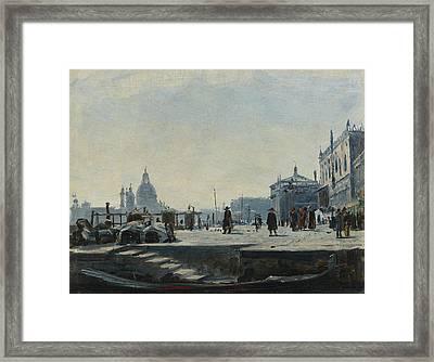View Of The Riva Degli Schiavoni, Venice Framed Print