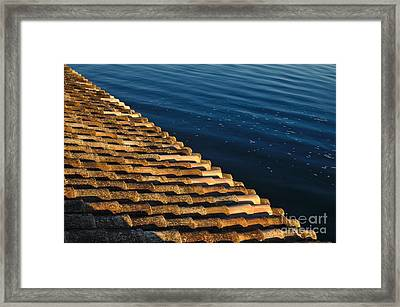 View Of The River From The Rooftop. Algarve Framed Print by Angelo DeVal