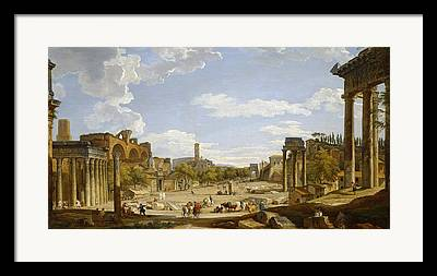 Marketplace Paintings Framed Prints