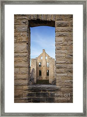 View Of The Ruins Framed Print