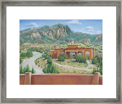 View Of The Sandias Framed Print by Oz Freedgood