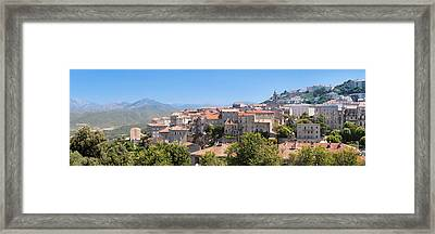 View Of The Sartene, Corse-du-sud Framed Print
