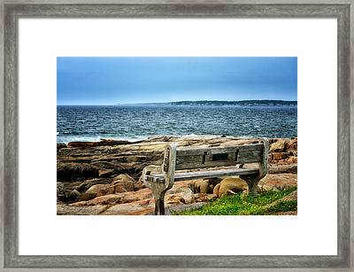 View Of The Sea Framed Print