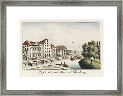 View Of The Stau In Oldenburg Framed Print