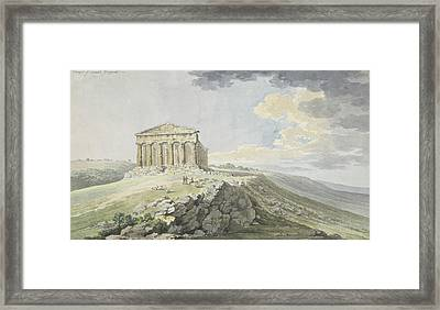 View Of The Temple Of Concord At Agrigento Framed Print by MotionAge Designs