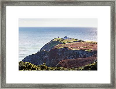 Framed Print featuring the photograph View Of The Trails On Howth Cliffs And Howth Head In Ireland by Semmick Photo