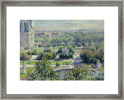 View Of The Tuileries Gardens Framed Print
