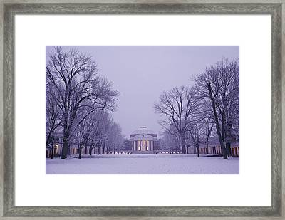 View Of The University Of Virginias Framed Print