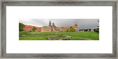View Of The Wawel Castle With The Wawel Framed Print by Panoramic Images
