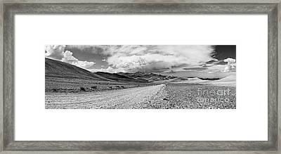 View Of The White Mountains From The Inyo National Forest. Framed Print by Jamie Pham