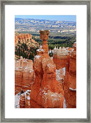 View Of Thor's Hammer In Bryce Canyon Framed Print by Pierre Leclerc Photography
