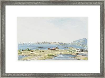 View Of Trapani With Mount Framed Print