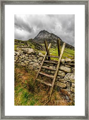 View Of Tryfan  Framed Print by Adrian Evans