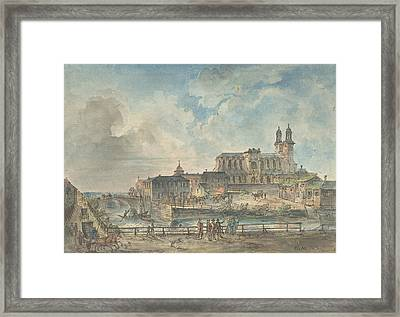 View Of Uppsala Cathedral From The North Framed Print