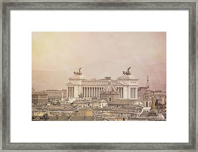 View Of Vittoriano In Rome Framed Print by JAMART Photography
