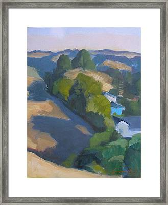 View Of Walnut Creek Hills From Trailhead Framed Print