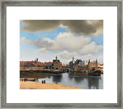 View On Delft Framed Print