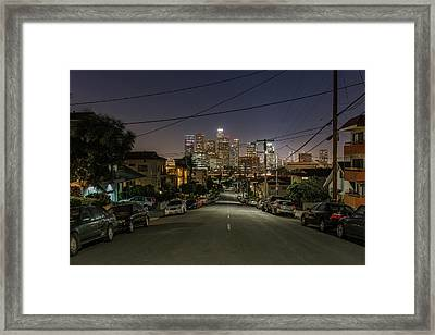 View On Dtla Framed Print by Urbanexpl0rer