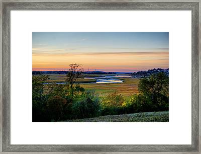 View On Fox Creak After Sunset  Framed Print by Lilia D