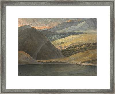 View On Lake Maggiore At Evening Framed Print