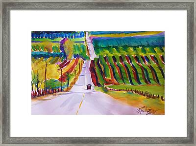 View On Lewis Hill Back Of Moms Ranch Framed Print by Therese Fowler-Bailey