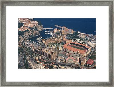 View On Monte Carlo On French Riviera Framed Print by Carl Purcell