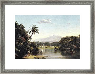 View On The Magdalena River Framed Print