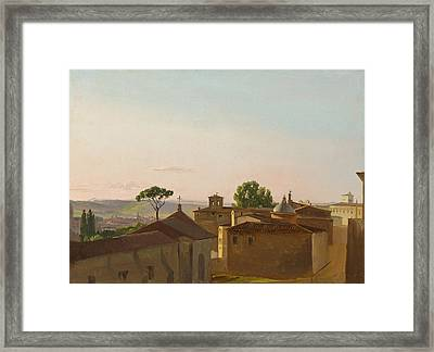 View On The Quirinal Hill. Rome Framed Print by Simon Denis