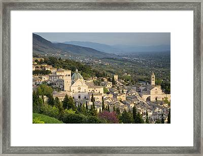 View Over Assisi Framed Print