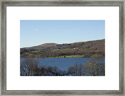 Framed Print featuring the photograph View Over Coniston Lake by JLowPhotos