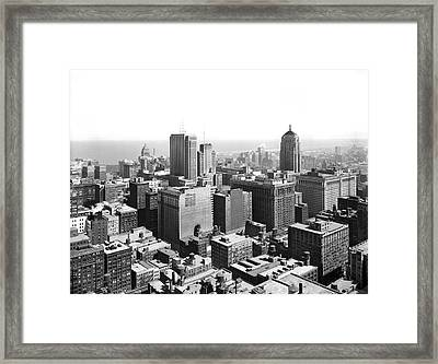 View Over Downtown Chicago Framed Print by Underwood Archives