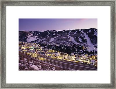 View Over I-70, Vail, Colorado Framed Print by Michael S. Lewis