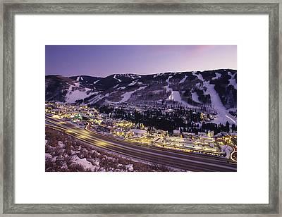 View Over I-70, Vail, Colorado Framed Print
