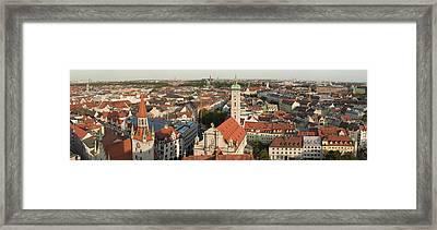 View Over Munich With Frauenkirche Framed Print by Greg Dale