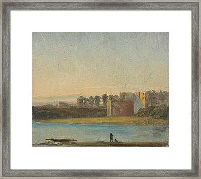 View Over The Elbe Framed Print by Johan Christian Dahl