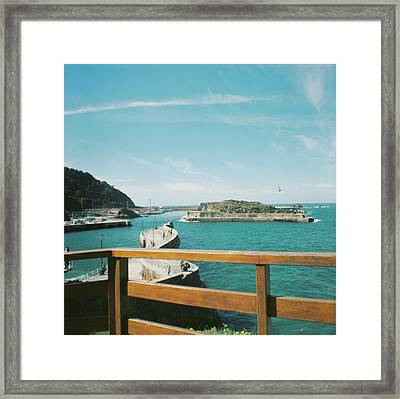 View Over The Ocean Port Framed Print