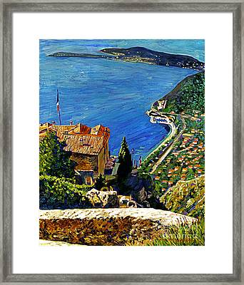 View Over The Riviera Framed Print by David Lloyd Glover