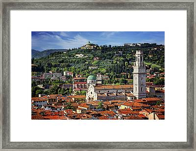 View Over Verona Italy  Framed Print
