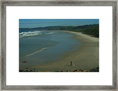 View South From Black Head Framed Print