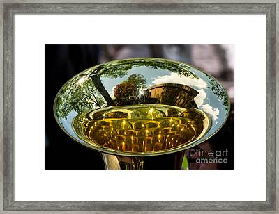 View Through A Sousaphone Framed Print