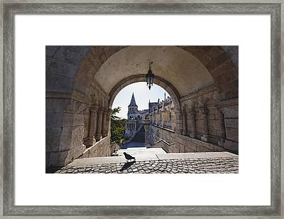 View Through An Arch Fisherman's Bastion Framed Print