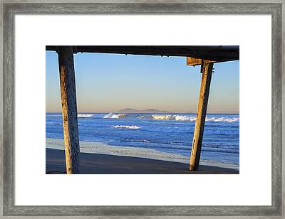 View Through The Pier Framed Print