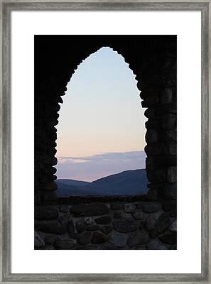 View Through The Rocky Arch Framed Print by  Judy Bernier