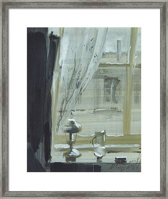 View Through The Window Framed Print