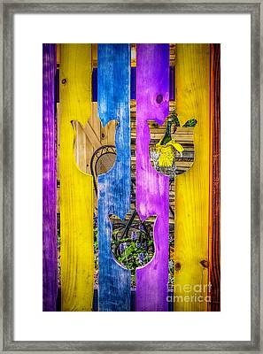 Framed Print featuring the photograph View Thru The Fence by Nick Zelinsky