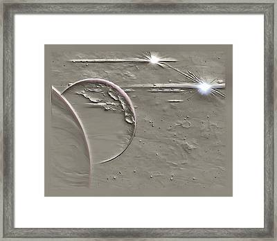 View To A Gray Universe Framed Print