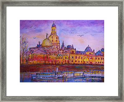 View To Dresden  Framed Print by Ingrid  Becker