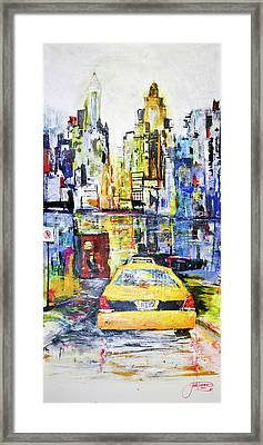 View To Manhattan Framed Print