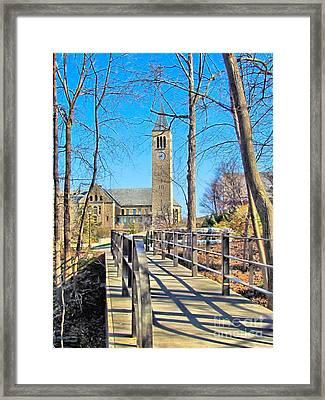 View To Mcgraw Tower Framed Print