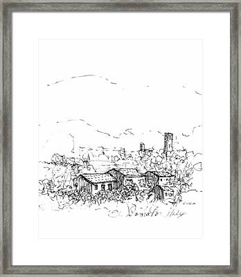 View To St.donato Framed Print